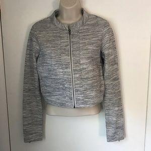 Fabletics Gray Magnolia Cropped Jacket Sz XS